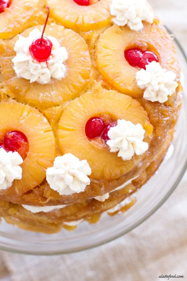 {Triple Layer} Pineapple Upside-Down Cake