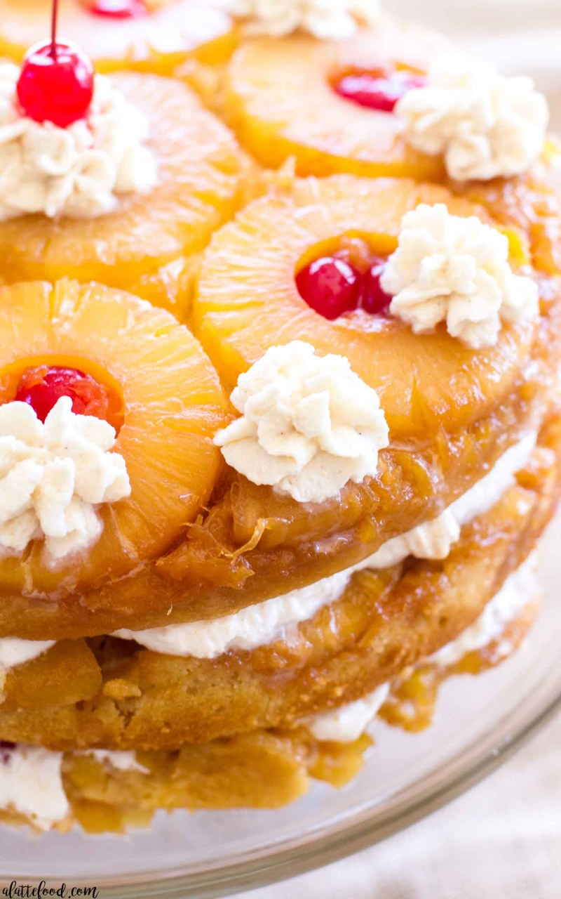 Two Layer Pineapple Upside Down Cake Recipe