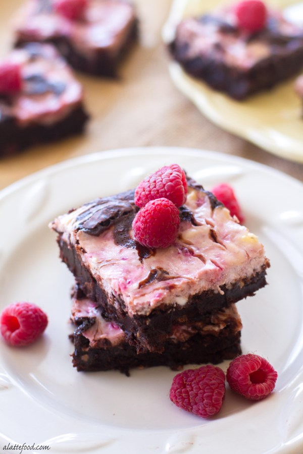 These chocolatey brownies are swirled with sweet raspberries and rich cream cheese to make the ultimate dessert!