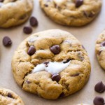 Pumpkin Chocolate Chip Marshmallow Cookies