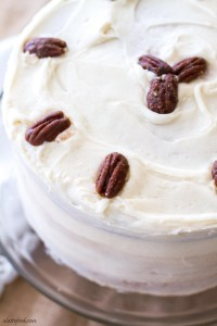 Maple Cream Cake This maple cream cake recipe uses cake mix as a base to make a stunning yet simple cake!