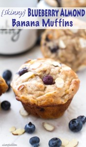 This easy blueberry almond muffin recipe is made with bananas, honey, and Greek yogurt instead of butter, oil, and white sugar! These are light, fluffy, and amazingly delicious. You won't feel guilty after eating one of these!