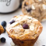 {Skinny} Blueberry Almond Banana Muffins