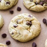 Pistachio Pudding Chocolate Chip Cookies