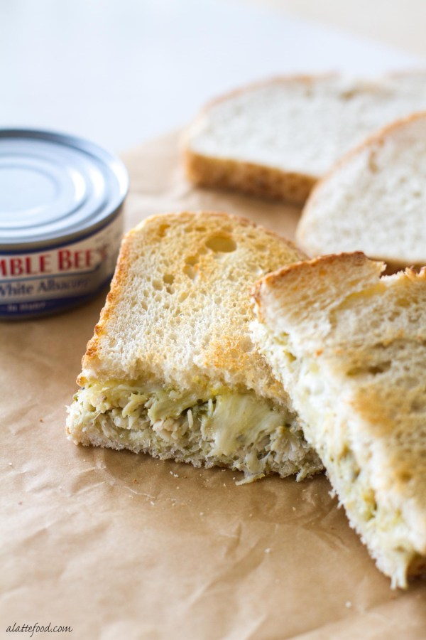 This easy grilled cheese recipe is kicked up a notch with Bumble Bee® Solid White Albacore, pesto sauce, and pepper jack cheese! A simple and delicious twist on a classic.