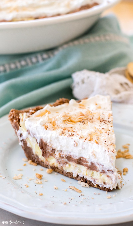 NO BAKE CHOCOLATE COCONUT CREAM PIE A LATTE FOOD