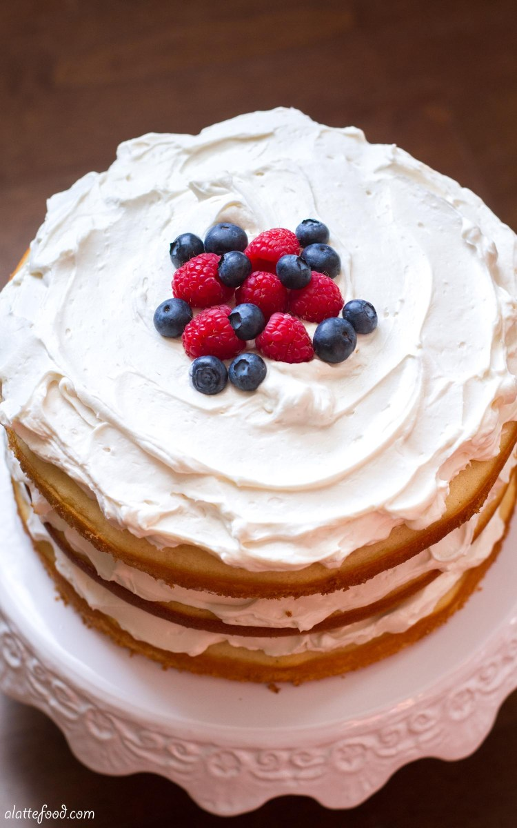 Lemon Blueberry Raspberry Naked Cake-4346