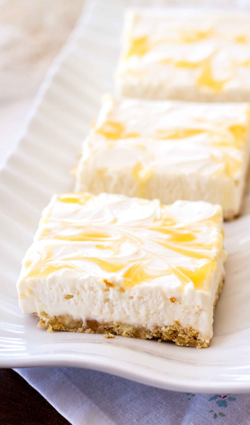 lighter lemon cheesecake with curd