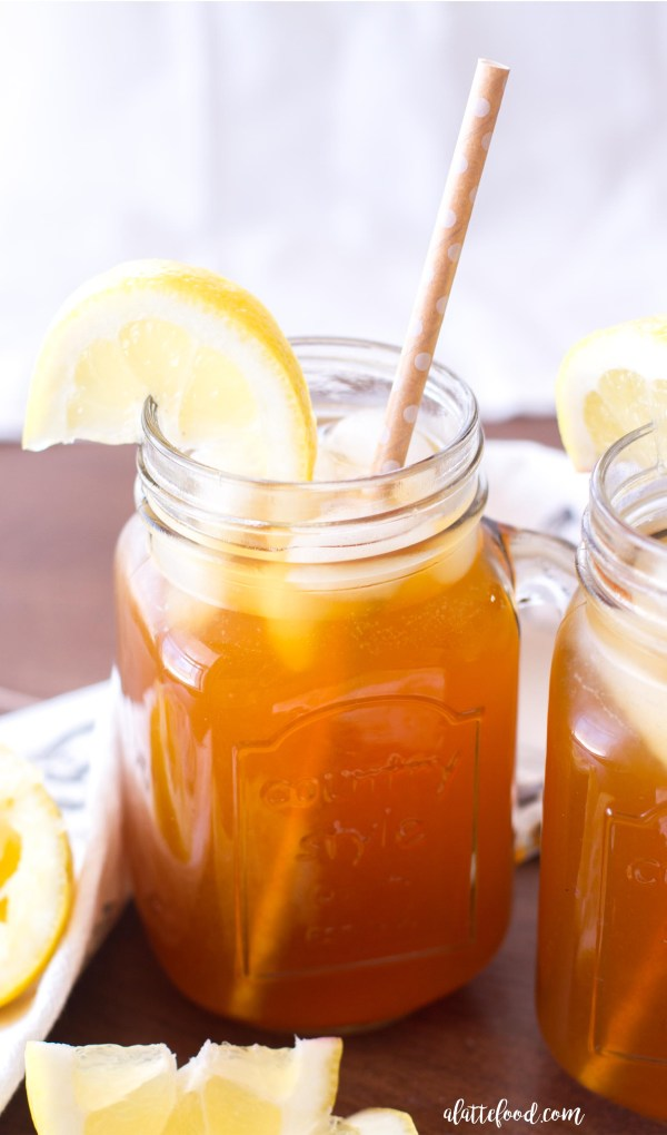 This easy homemade iced tea recipe is made with only five ingredients and tastes like summer!