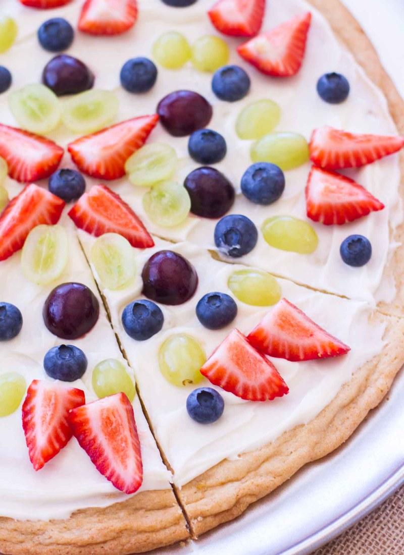 Lemon Sugar Cookie Fruit Pizza