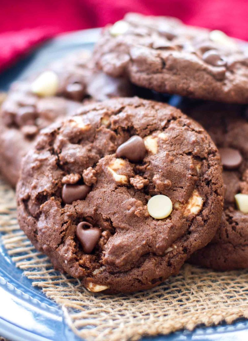 These Double Chocolate Chip Crunch Cookies are a chocolate lovers dream.