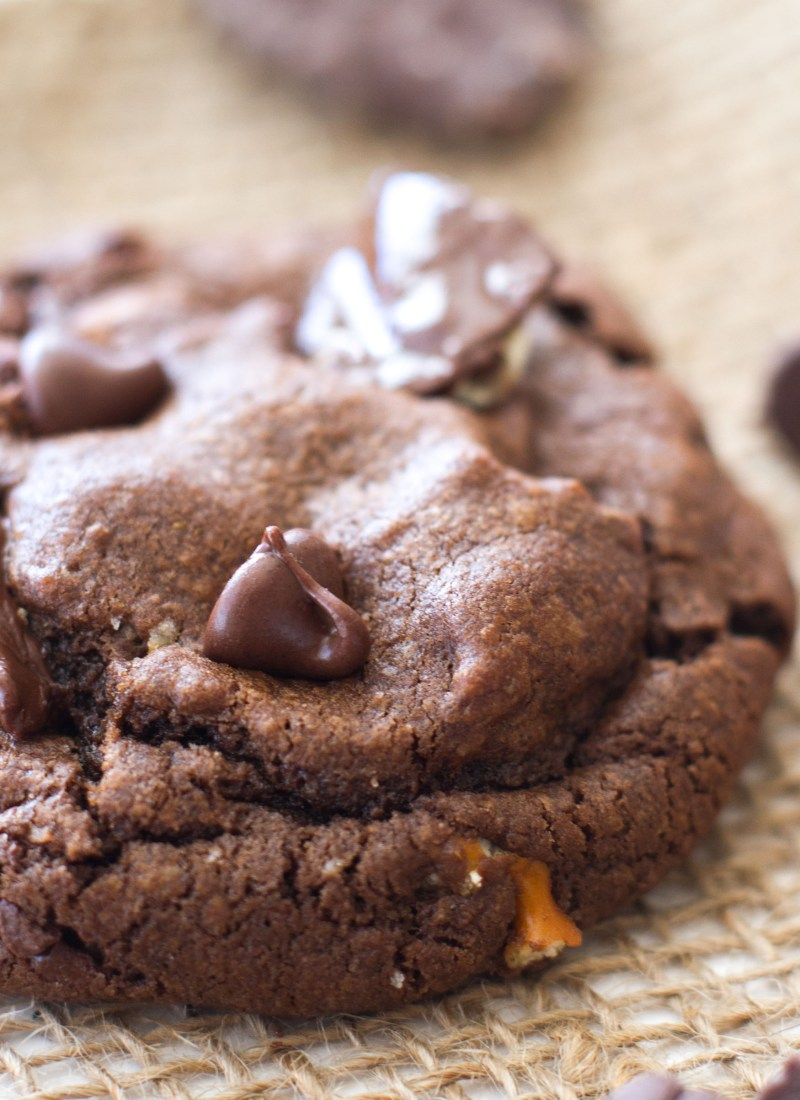 Sweet and Salty Double Chocolate Chip Cookies
