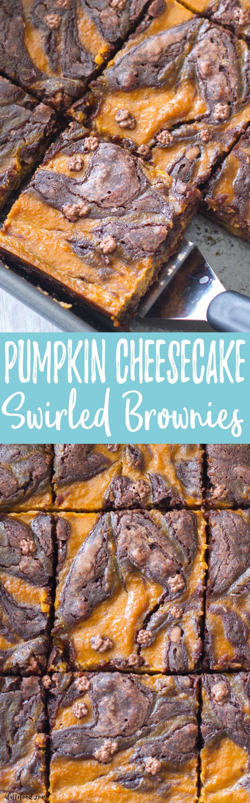This easy pumpkin cheesecake brownie recipe isperfect for the fall season! Only a few ingredients stand between you and these rich, fudgy brownies!
