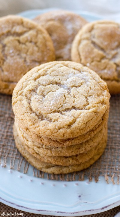 These soft and chewy maple snickerdoodles are so easy to make! The pure maple syrup flavor adds a sweet twist on the classic snickerdoodle recipe! These are sure to be a total crowd pleaser!