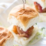 Bacon Wrapped Honey Barbecue Chicken Sliders