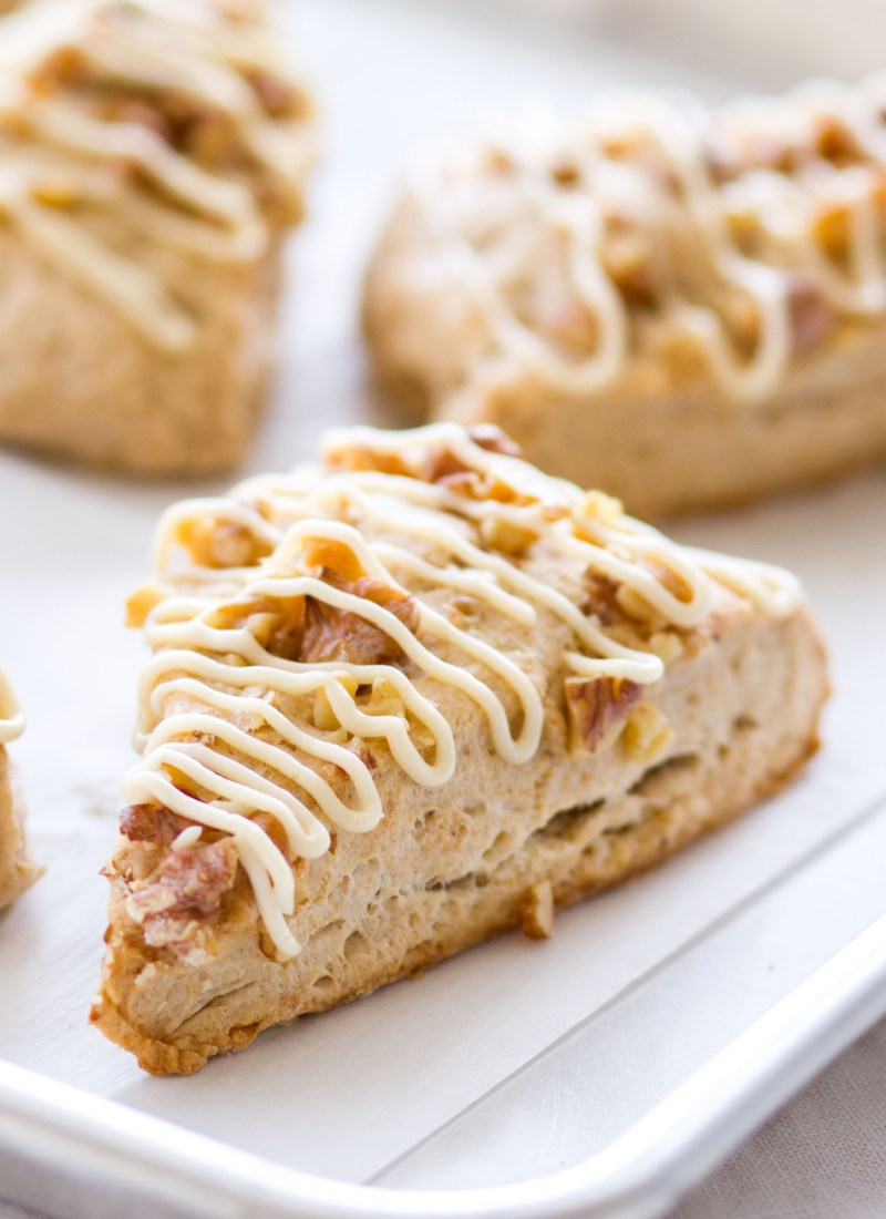 Naturally Sweetened Banana Bread Scones