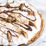 Chocolate Chip Cookie Peanut Butter Cream Pie