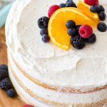 Mixed Berry Orange Naked Cake