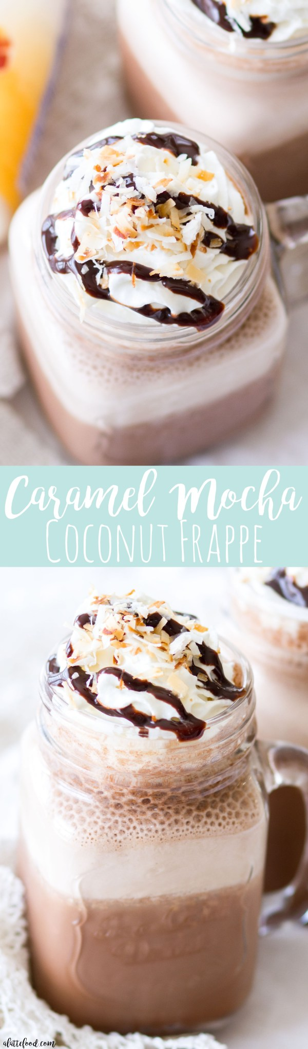 This homemade Caramel Mocha Coconut Frappe tastes like your favorite coffee drink, but is made right at home! Just a few ingredients stands between you and this refreshing Caramel Mocha Coconut Frappe!