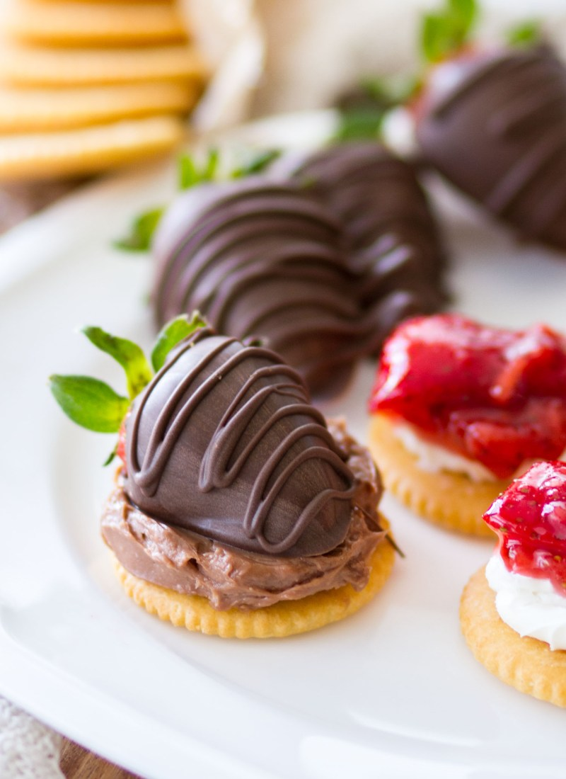 These easy RITZ Crackers appetizers are made 4 different ways, with both sweet and savory ingredients, making them the perfect appetizers for any party or gathering!