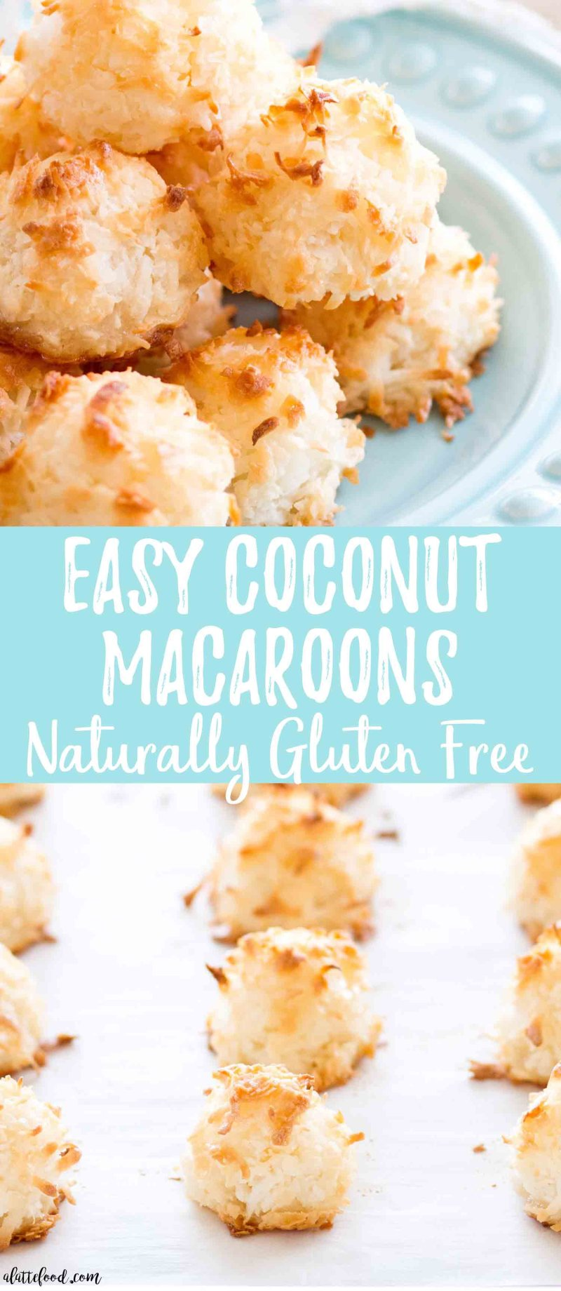 These easy homemade Coconut Macaroons are so simple to make and taste delicious! This Coconut Macaroon recipe has only 7 ingredients, making it the easiest gluten-free dessert! Plus, a step-by-step video below! chewy coconut macaroons, how to make macaroons, coconut macaroons without condensed milk