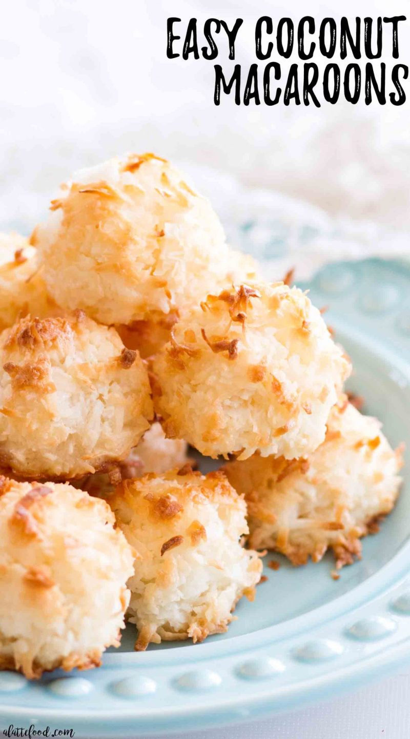 coconut macaroons made with egg whites