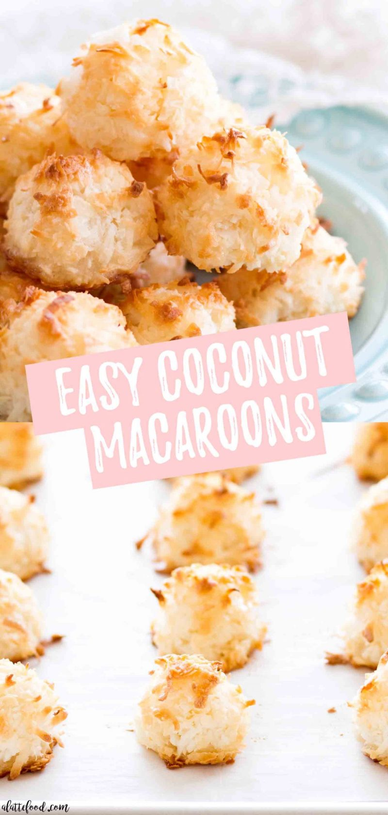 homemade coconut macaroons collage