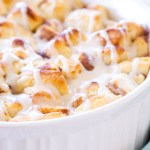 Easy Cinnamon Roll Peach Cobbler