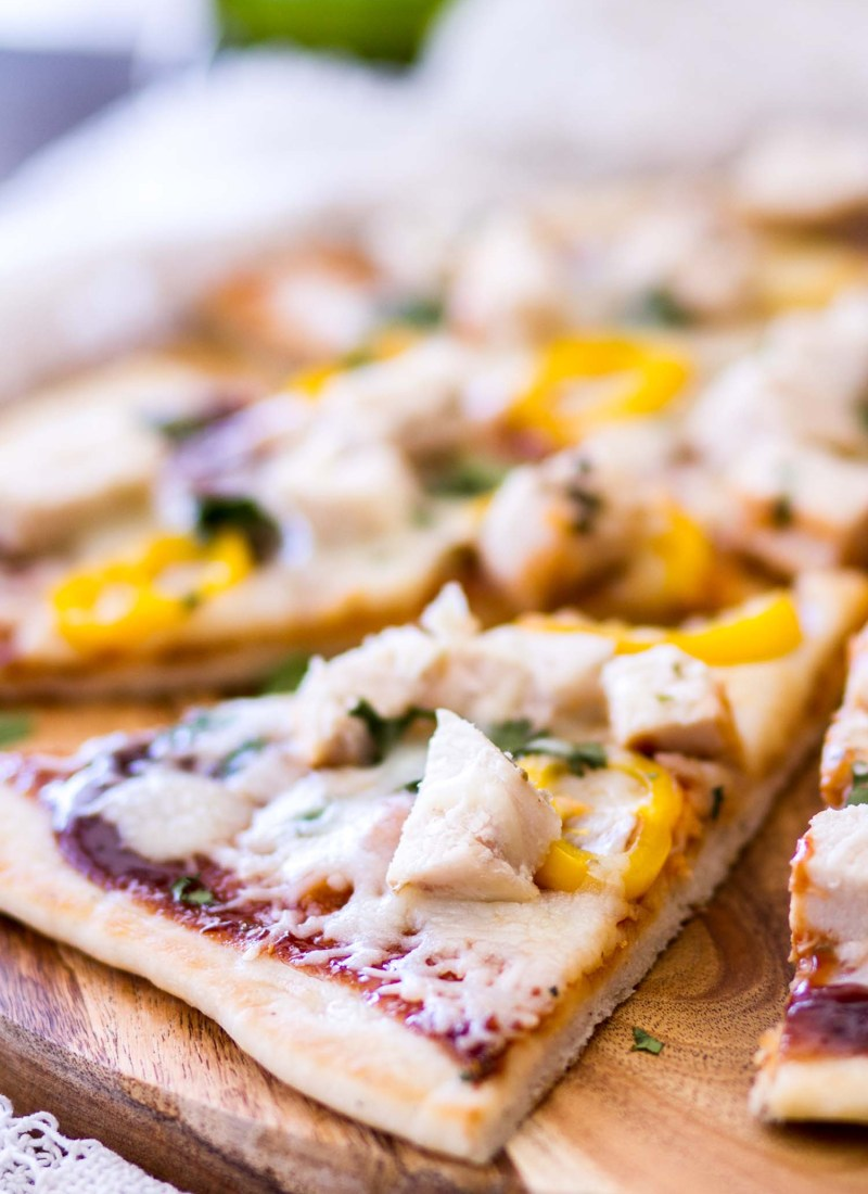 Grilled Barbecue Chicken Flatbread