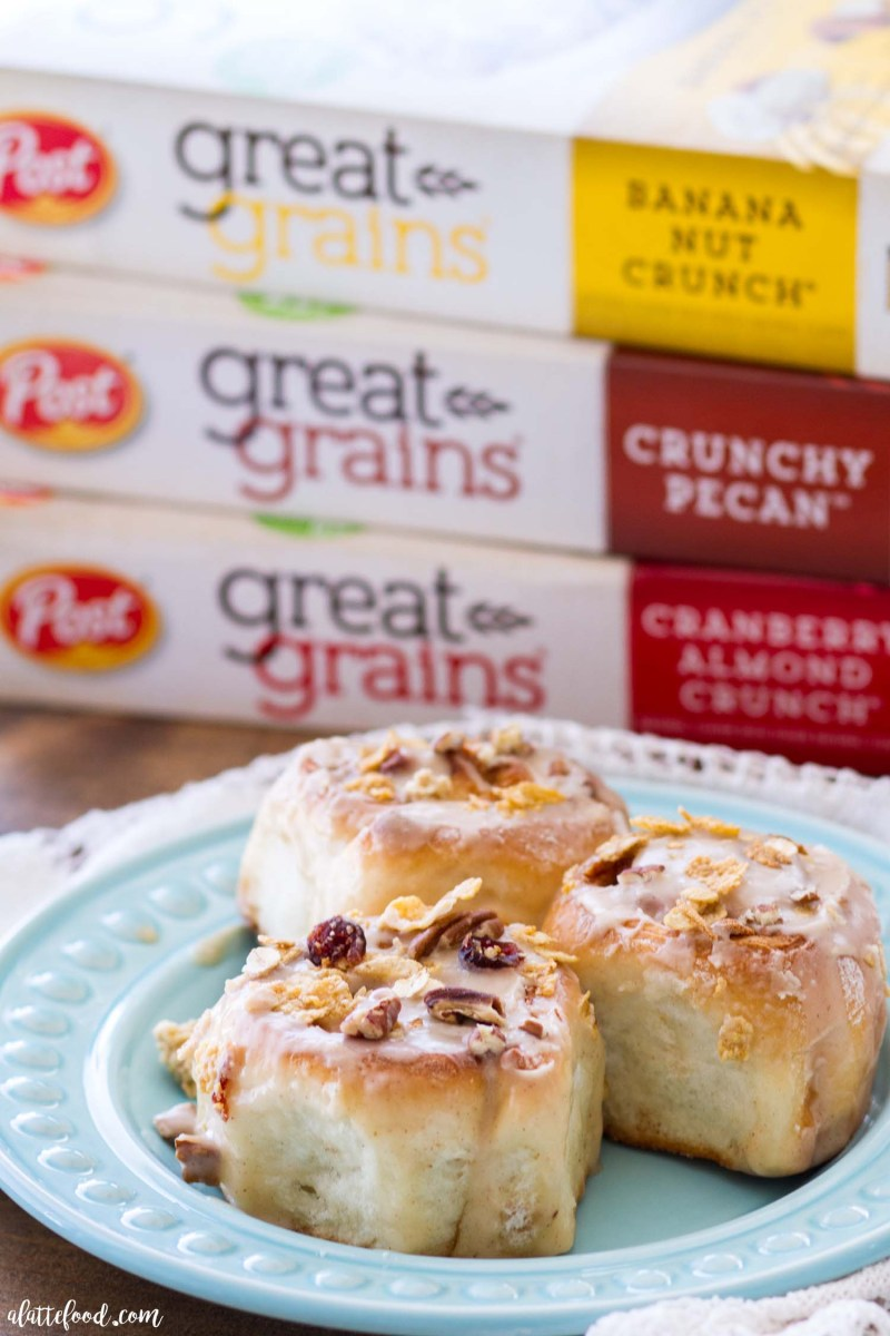 Cranberry Pecan Cinnamon Rolls - A Latte Food