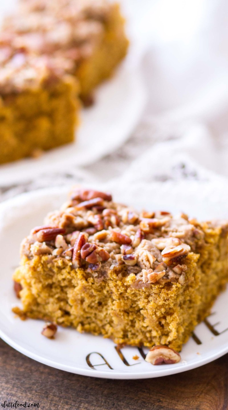 pecan pumpkin coffee cake brown sugar topping