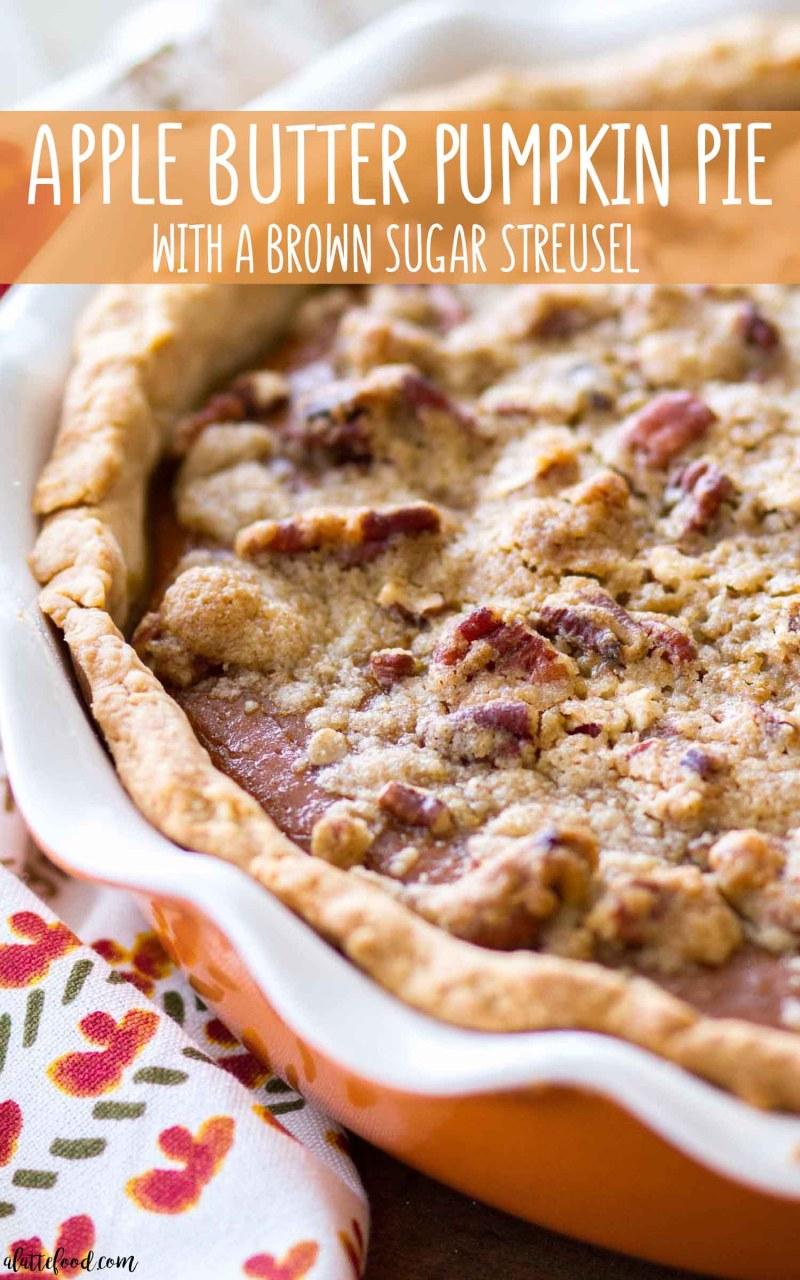 Apple Butter Pumpkin Pie Recipe (how to make apple butter pumpkin pie from scratch)