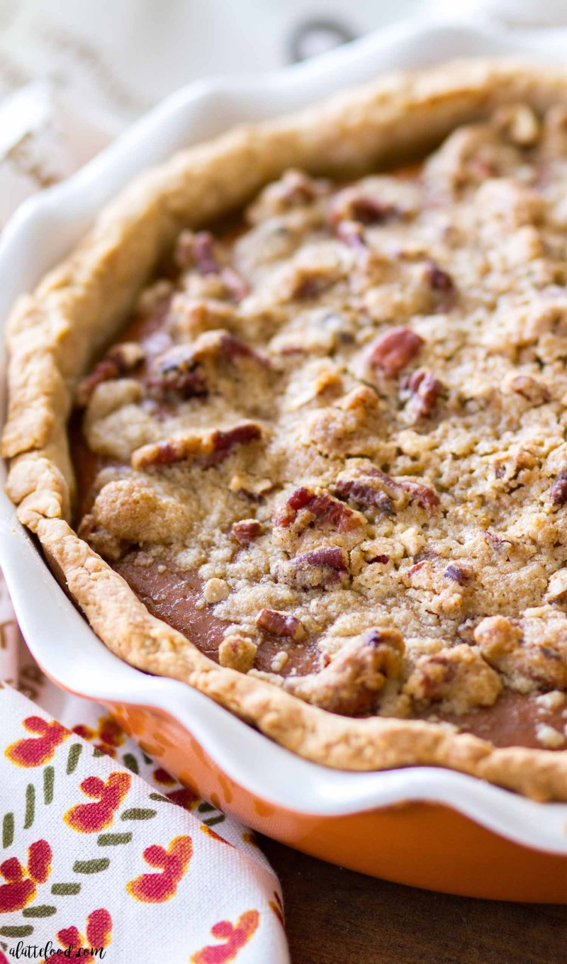 Apple Butter Pumpkin Pie with Brown Sugar Streusel - A ...