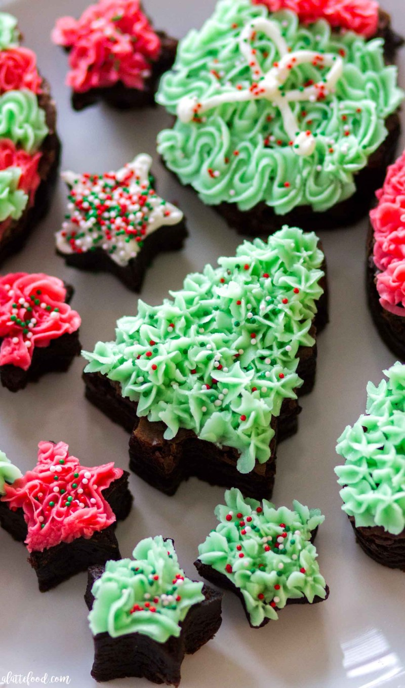 Cutout Frosted Fudge Brownies This Easy Last Minute Christmas Dessert Is Rich Fudgy