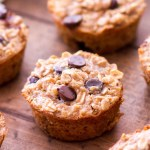 pb banana chocolate chip oatmeal cups