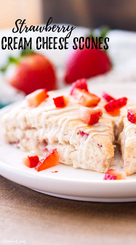 the best strawberry cream cheese scone with fresh strawberries