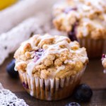 Lemon Blueberry Crumb Cake Muffins