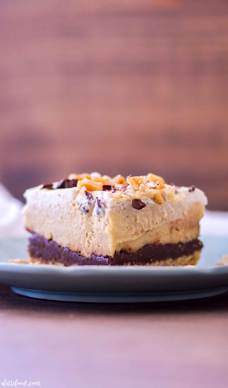 No Bake Chocolate Peanut Butter Pie Bars A Latte Food