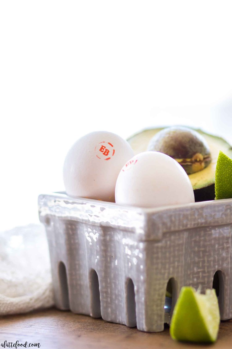 hard boiled eggs in gray dish