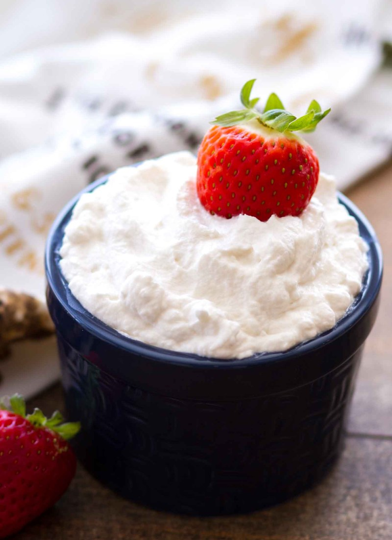 This Homemade Whipped Cream Recipe is only 3-ingredients and so easy to make!
