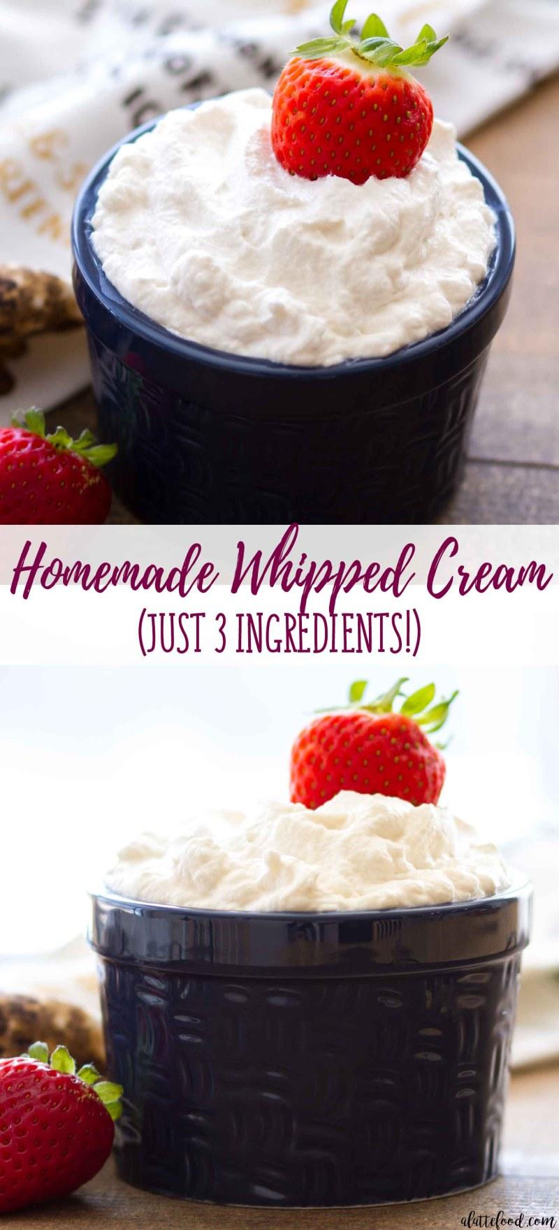 Homemade Whipped Cream Recipe