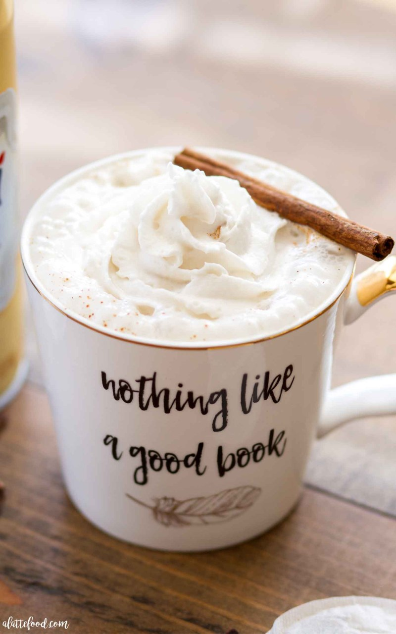 The best easy chai latte made with almond milk and maple syrup.