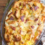 Herb, Bacon and Egg Strata