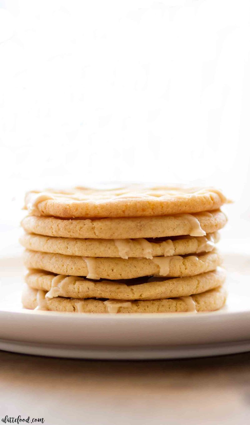 A nice stack of chewy maple sugar cookies topped with maple icing is the best dessert!
