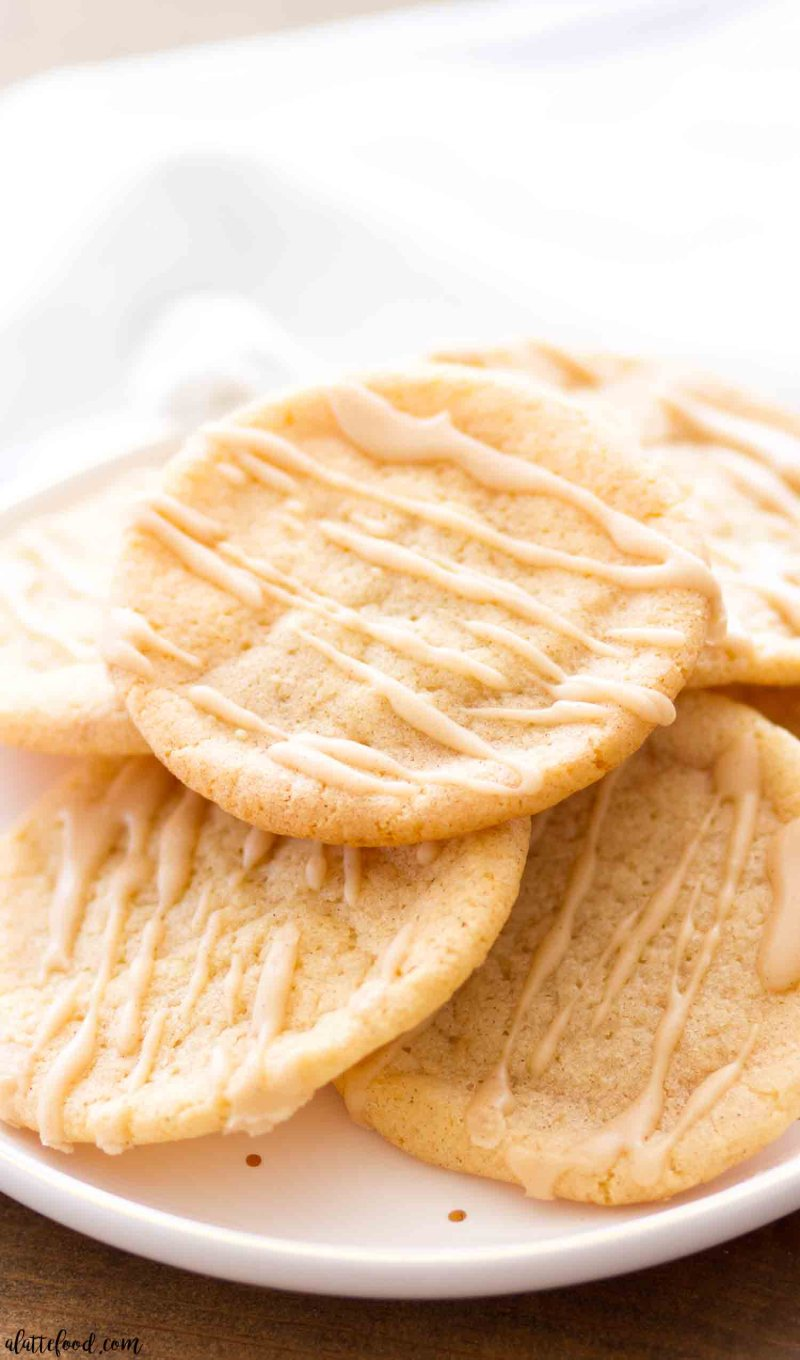 Chewy maple sugar cookies are made with pure maple syrup and topped with a maple icing.