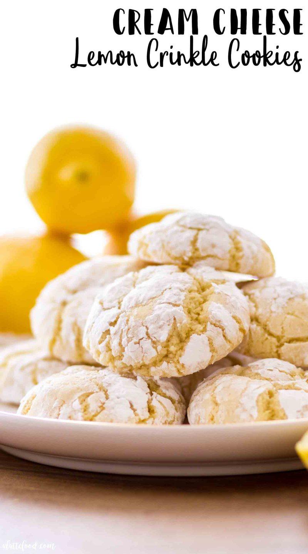 Chewy cream cheese lemon crinkle cookie recipe (aka lemon crinkle cookies with cream cheese)