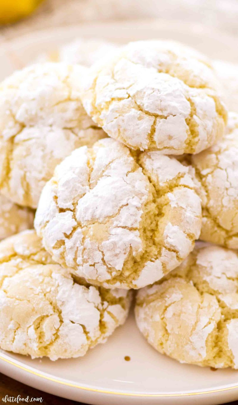 These lemon crinkle cookies with cream cheese make the softest yet chewy lemon cookies.