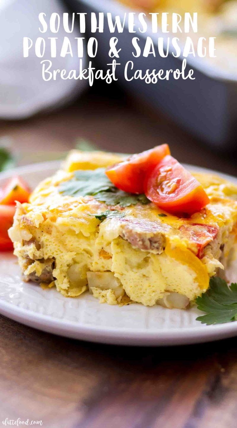 The best potato and sausage breakfast casserole with peppers
