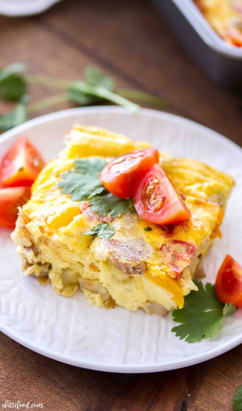 Southwestern Potato and Sausage Egg Breakfast Casserole