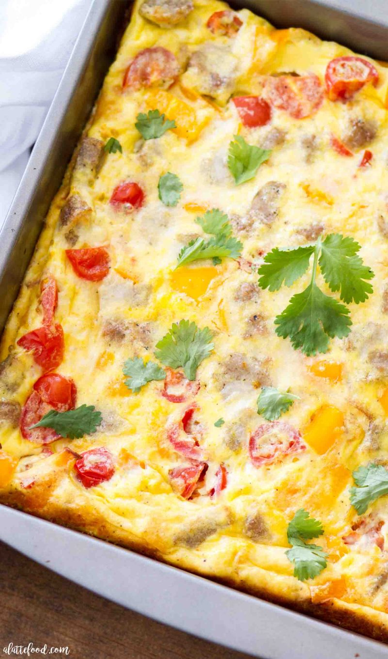 Southwestern Potato And Sausage Breakfast Casserole A